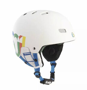 BLUETRIBE White Ski Rider Safety Helmet Size L/XL - Stylish NEW AND SEALED