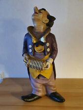 Achatit Clown mit Ziehharmonika, ca. 42 cm hoch