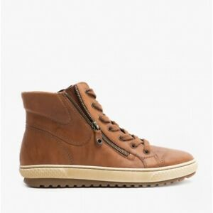 Gabor BULNER Ladies Leather Casual High Top-Style Side ZipAnkle Boots Copper