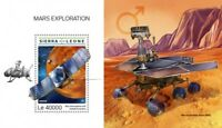Sierra Leone - 2018 Mars Exploration - Stamp Souvenir Sheet SRL18609b