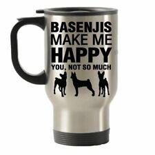 Basenjis Make Me Happy Stainless Steel Travel Insulated Tumblers Mug