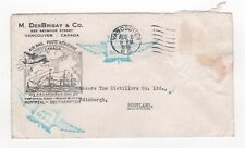 1939 CANADA Illustrated 1st Flight Cover VANCOUVER - EDINBURGH SCOTLAND Montreal
