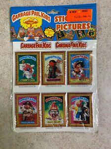 Vintage 1986 Garbage Pail Kids Sealed Imperial 6 Set Puffy Sticker Sheet NIP #3