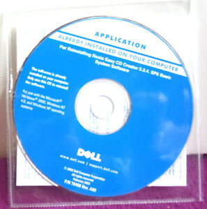 Dell APPLICATION -INSTALLING/Reinstalling Roxio Easy CD Creator 5.3.4. SP8 Basic