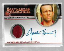 Battlestar Galactica Season 4 Autograph Costume card Matthew Bennett - Aaron
