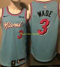 DWYANE WADE Miami HEAT Vice WAVE City NIKE with LOGO Swingman BLUE Jersey S-XXL