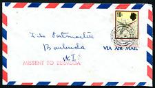 BARBUDA: (18796) TRINIDAD missent BERMUDA cancel/cover