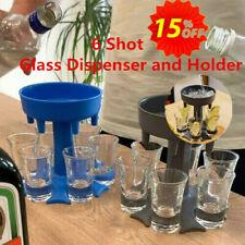 New 6 Shot Glass Dispenser and Holder/Liquor Dispenser Party Gifts For Christmas
