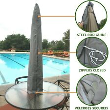 Outdoor Patio Market Umbrella Protective Canopy Cover Bag fit 7ft to 11ft Grey