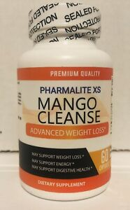 Pharmalite XS Mango Cleanse Supplement Weight Loss Support Keto 60CT Exp 01/2022