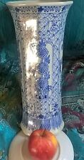 large chinese blue white 19 th century export,vase