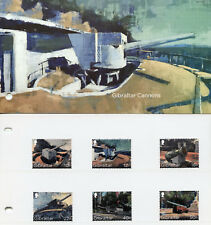 Gibraltar 2018 MNH Cannons Howitzer Cannon 12v Set / 2 Pres Pack Military Stamps