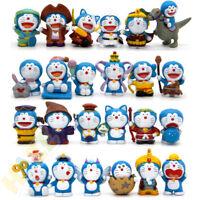 24pcs/set Doraemon Figura de acción estatua Decoración PVC Juguete para niños