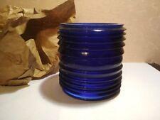 Fresnel lens for marine, signal lamp. Color blue! Ussr Vintage