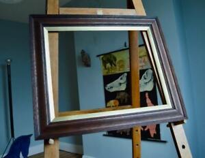"SUPERB ANTIQUE EDWARDIAN OAK PICTURE FRAME 20""X16"" REBATE vARTS & CRAFTS NOUVEAU"