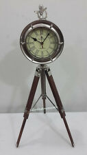 Vintage Maritime 49 Bond Street London Desk Clock Nautical Table Clock Vintage