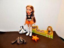 Bratz Sportz Slammin' Soccer Doll with Clothes, Accessories Excellent Condition