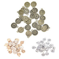 26 Alphabet Letters A-Z DIY Crafts Jewelry Making Charms Pendents Findings Yf