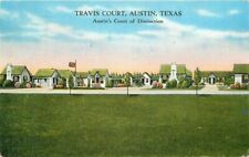 Austin Texas Travis Court roadside Kropp 1937 Postcard 20-7561