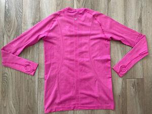 Lululemon Run Swiftly Tech Long Sleeve Pink Berry Sz 10  Thumbholes GUC