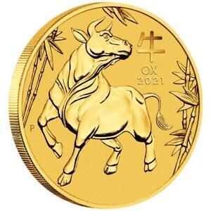 Australien 15 Dollar 2021 Jahr des Ochsen | Ox (2.) Lunar III - 1/10 Oz Gold ST