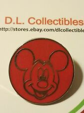 Disney Mickey Mouse Face Red Circle Outline Pin