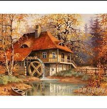 Fai DA TE TELA DIPINTO A OLIO vernice da numeri Foresta casa kit includono colori + pennello