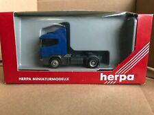 Herpa 1:87 HO Scania 124 Tractor Unit Blue Model 144865