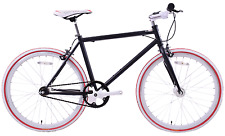 "JUNIOR SIZE FIXIE BIKE 24"" WHEEL 45CM FRAME SINGLE SPD FLIP FLOP HUB BLACK/WHITE"