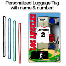Personalized Los Angeles Baseball Luggage Tag