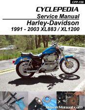 Harley-Davidson XL883 XL1200 Sportster Printed Cyclepedia Motorcycle Manual 1...