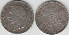 +gertbrolen+ Second Empire 5 FRANCS  Napoléon III 1869  PARIS