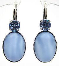 SoHo® Ohrhänger bohemia Glas Cabochons 1960er light sapphire hellblau handmade