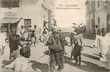CARTE POSTALE ASIE COLOMBO CEYLAN MASCARADE INDIENNE