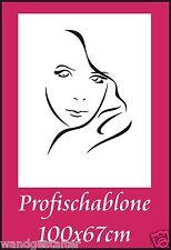Wandschablone, Wandschablonen, Malerschablone, Modernart, Deko - Frauengesicht 3