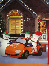 8' Lighted Christmas Home Depot Car #20 Tony Stewart Snowman Inflatable Airblown