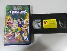BLANCANIEVES Y LOS SIETE ENANITOS VHS LOS CLASICOS DE WALT DISNEY COLECCIONISTA