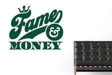 Fame And Money Vinilo Pegatinas De Pared Adhesivo Decoración