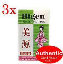 3X Bigen Powder Hair Dye - Brown Black Color B (Japan) - 6g (New!)