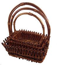 Gift Basket Rattan Basket with Handle Fruit Basket Wicker Basket Gift Basket