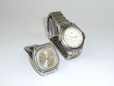 Due signori orologi da polso 1970er ANNI CASIO Japan Lineage Seiko Orologio Da Polso Orologio