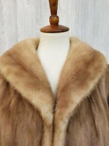 Vintage Blonde Mink Swing Style Coat Size Large