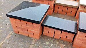 Black Pier Caps, 100% Natural Granite, 2.5 Brick Pillar, 600x600mm, Collected