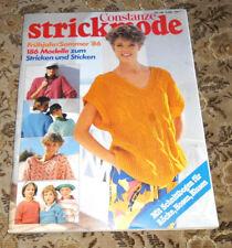 Constanze  Strickmode 1986  186 x  Stricken Sticken  Handarbeitsheft