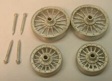 """Circus Wagon Wheel Set """"O"""" Scale Cast Pewter By Don Mills Models"""