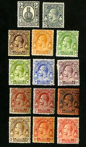 Turks And Caicos Stamps # 44-57 VF Complete Set OG H