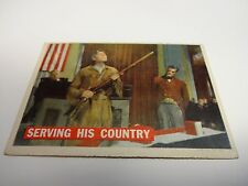 1956 Davy Crockett Serving His Country Card #42