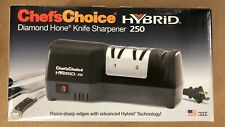 Chef'sChoice 250 Diamond Hone Hybrid Sharpener Combines Electric and Manual...