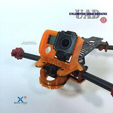 20° Ramp Case GoPro Hero 4 (LL), FPV Cam Mount w/ Landing Skid Plate Vortex 285