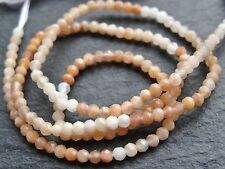 "2.5mm MICRO FACETED MOONSTONE RONDELLES, 13"", 160 beads"